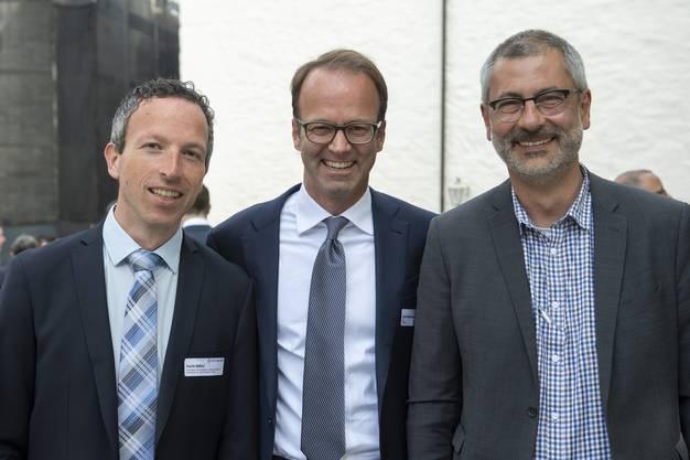 Führungspower der CH Media (v.l.): Patrik Müller (Chefredaktor der Zentralredaktion von CH Media), CEO Axel Wüstmann sowie Pascal Hollenstein, Leiter Publizistik.
