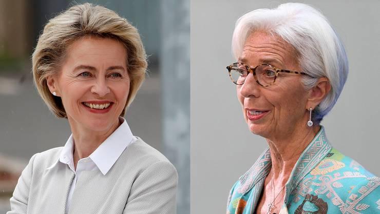 Ursula von der Leyen und Christine Lagarde – die Eine freundlich, aber hart, die Andere solid, aber unterwürfig.