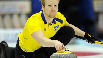 Skip Niklas Edin führte Schweden zum 10:2 gegen Neuseeland.