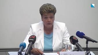 Die Zürcher Bildungsdirektorin Silvia Steiner erklärte an einer Medienkonferenz de Kantons das Schutzkonzept für die Zürcher Schulen.