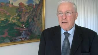 Video-Interview: Christoph Blocher ist erstaunt über die Kandidatur seiner Tochter.