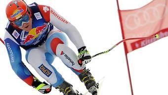 Didier Cuche ist in Kitzbühel der Topfavorit für die Abfahrt vom Samstag.
