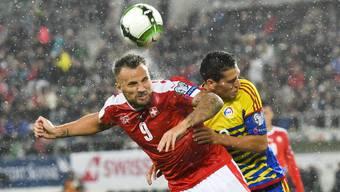 Im Regen – Seferovic und seine Kollegen im Schweizer Angriff durchleben schwierige Zeiten.