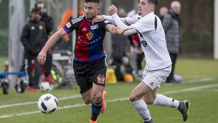 Andraz Sporar (links) kann am Sonntag gegen Zug 94 sein Comeback nach einer langen Verletzungspause feiern.
