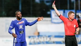 Wegen eines umstrittenen Platzverweises wird Jordi Nsiala dem FC Wohlen am Mittwoch fehlen.