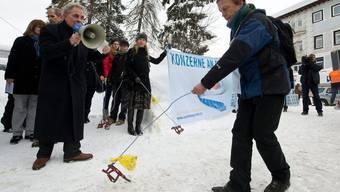 Die Kampagnenführer besuchen das WEF in Davos