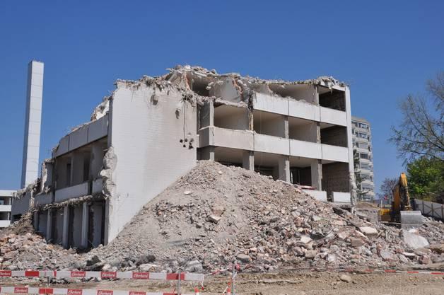 Vom Theodosianum-Gebäude ist nicht mehr viel zu sehen