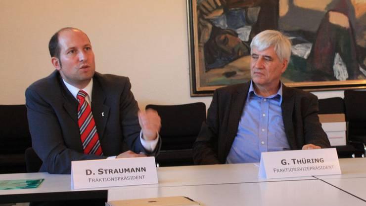 Die Prüfung mehrerer Fraktionen begründete SVP-Fraktionspräsident Dominik Straumann auf Anfrage mit dem neuen Landratsgesetz das die SVP ablehnte. (Archiv)