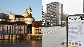 Solothurn gehört zu den finanzstärksten Gemeinden. Trimbach ist hingegen stark auf den Finanzausgleich angewiesen.