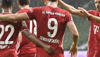 Robert Lewandowski schiesst die Bayern zum 8. Meistertitel in Folge