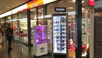 """Der """"Swiss Shop 1291"""", der seit 2002 im Metroshop eingemietet war, verlässt Baden."""