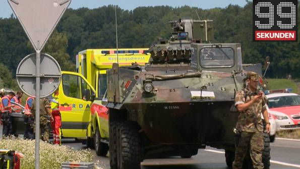 5 verletzte Soldaten bei Panzerunfall - Störung bei Alarmsirenen - Polizei rettet süsse Bären-Babys