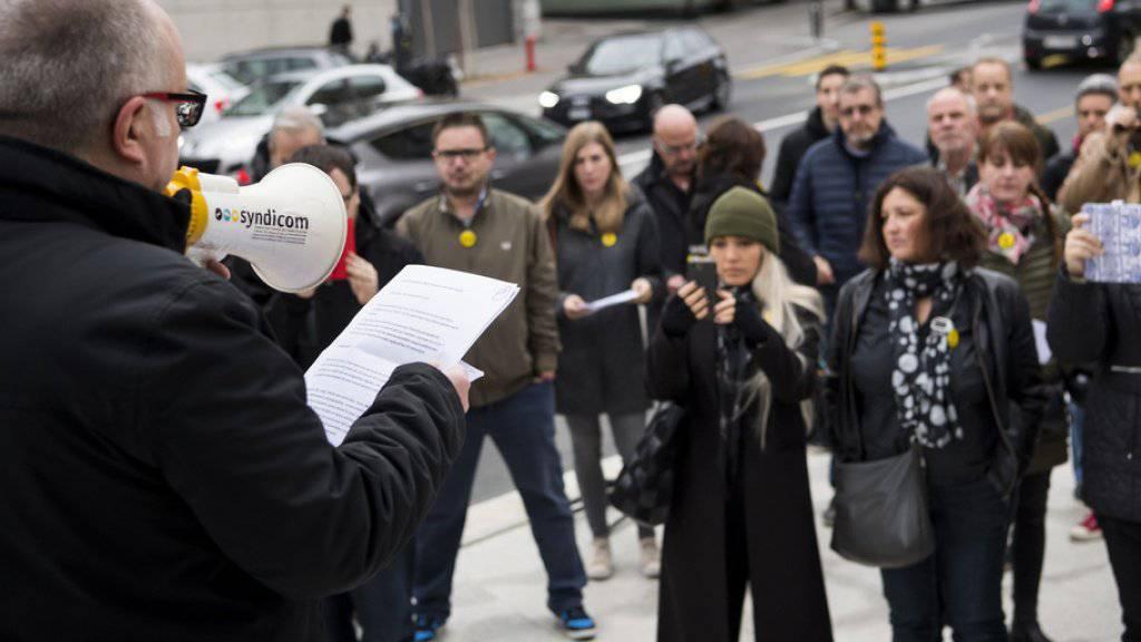 Mitte November trugen ehemalige Angestellte von «Le Matin» ihre Anliegen auf die Strasse. (Archiv)