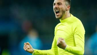Der Tessiner Danijel Milicevic markierte in der Gruppenphase der Champions League drei Treffer für den belgischen Klub KAA Gent
