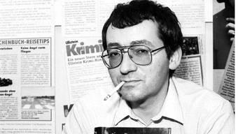 Jörg Fauser 1985 an der Buchmesse Frankfurt mit seinem Roman «Das Schlangenmaul». Imago stock&people