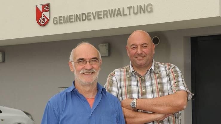 Trotz Ungemach zuversichtlich: Gemeinderat Alfredo Kurmann (links) und Martin Zürcher, Interims-Gemeindepräsident.