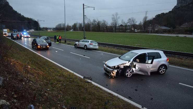 Zum Unfall kam es auf der Autostrasse zwischen Oensingen und Balsthal