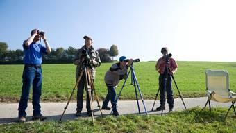 Der Natur-und Vogelschutzverein Bucheggberg lud bereits gestern nach Brügglen zur Vogelbeobachtung.  Hansjörg Sahli