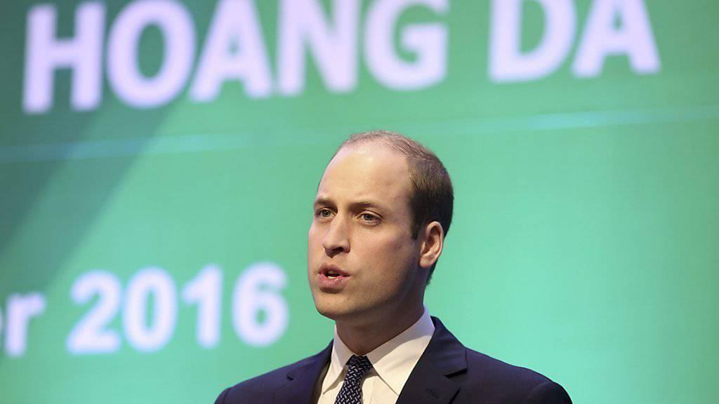Prinz William in Hanoi bei der Eröffnung der Konferenz gegen Handel mit bedrohten Wilditieren