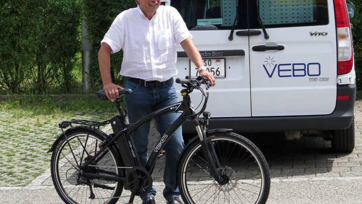 Peter Baumann mit dem VBIKES der VEBO Zuchwil