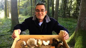 2017 ist ein gutes Pilzjahr_ Franco Del Popolo zeigt einige bekannte Pilze, die er gerade gefunden hat.