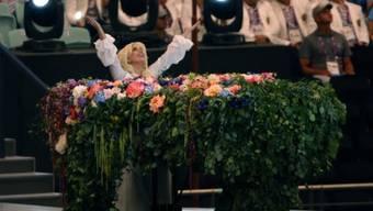 Lady Gaga am Freitag bei der Eröffnungszeremonie der Europaspiele in Baku