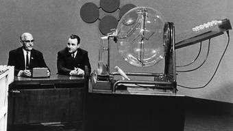 Eine erste Probe zur Ziehung der Lottozahlen fand bereits am 17. Dezember 1969 im Fernsehstudio Zürich statt. Am 10. Januar 1970 folgte die erste ordentliche Ziehung. (Archivbild)