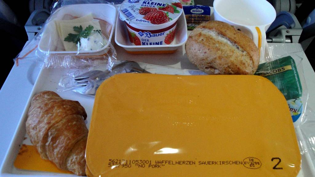 Essen im Flugzeug