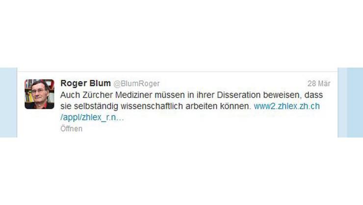 Roger Blums Tweet