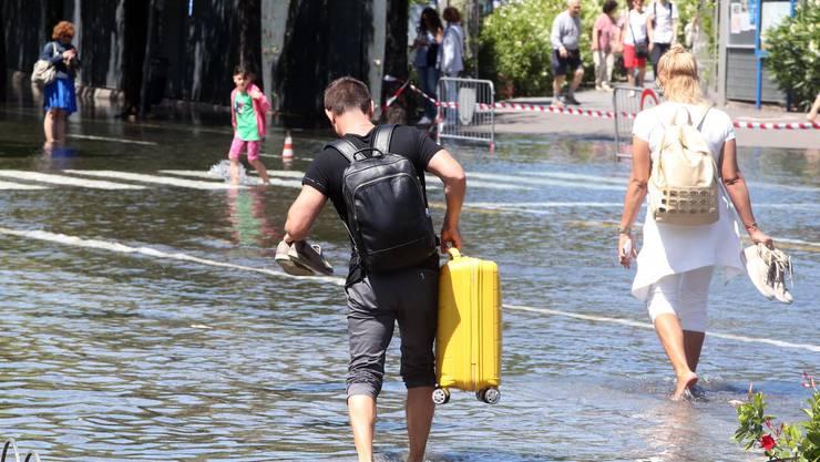 Von der Sturmflut betroffen war der Abschnitt von Venedig bis Lignano.