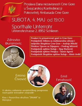 Am Samstag besuchte der erstochene Sadik R. eben dieses Fest zur Unabhängigkeit von Montenegro, den Flyer hatte er auf seinem Profil gepostet.