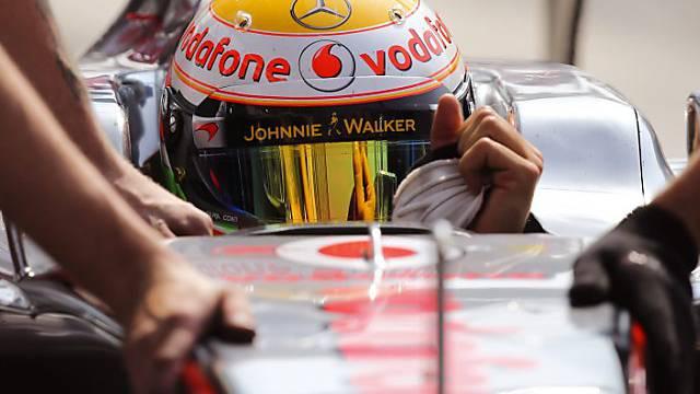 Mit einem Hauch Vorsprung Trainingsschnellster: Lewis Hamilton.