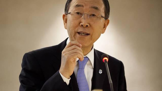 Ban Ki Moon spricht in Genf