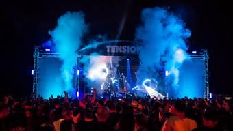 Gegen 5000 Technobegeisterte feierten 2017 am Tension-Festival ab.
