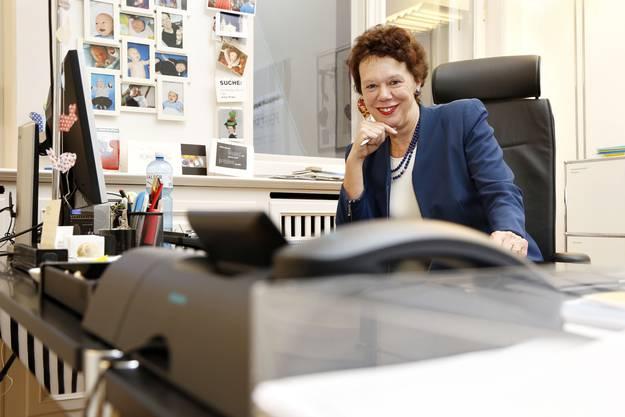Esther Gassler in ihrem Büro.