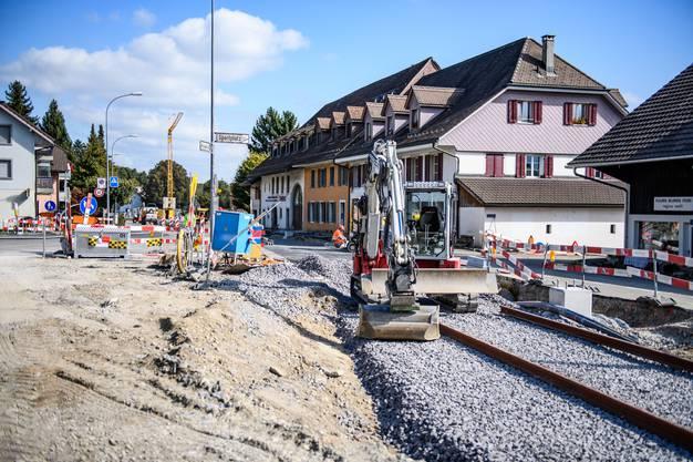 Der verbleibende Bahnübergang in die Kirchgasse.