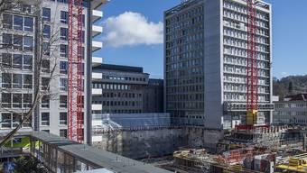 Das Coronavirus hinterlässt seine Spuren auch in der Kasse des Kantonsspitals Winterthur: im Bild die Baustelle für den Ersatzneubau des KSW.