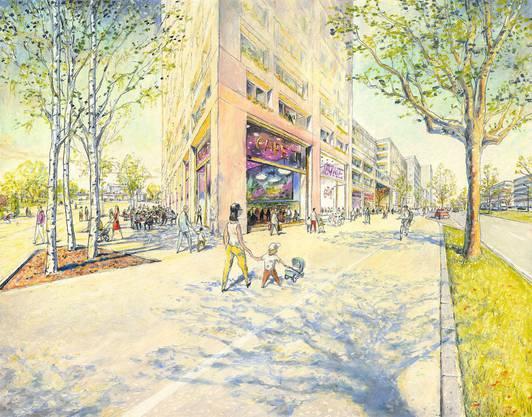 Illustration vom neuen Quartier von Matthias Gnehm. (1)