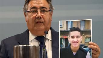 Die Ermittlungsbehörden glauben, am Montag in Subirats den Mann erschossen zu haben, der letzten Donnerstag in Barcelonas Innenstadt am Steuer eines Vans 13 Fussgänger getötet hat. Nach Younes Abouyaaqoub wurde europaweit gefahndet. EPA/J.J. GUILLEN