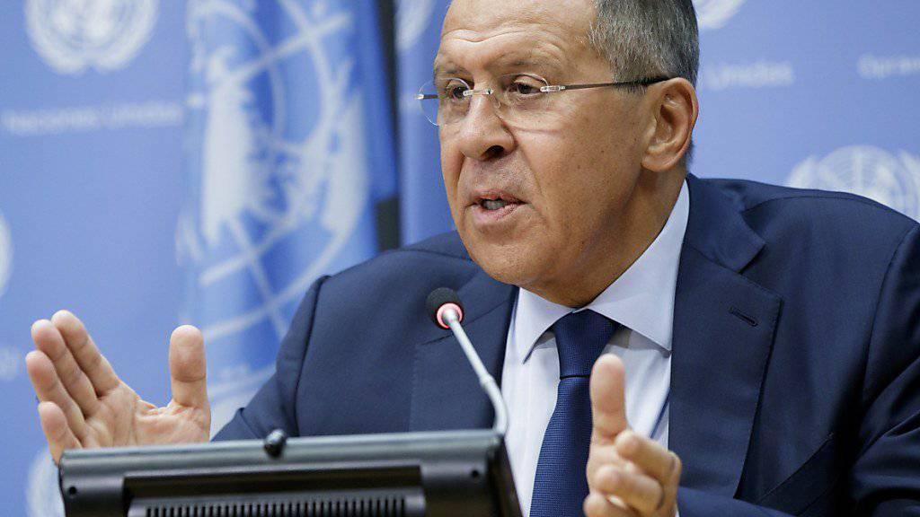Der Aussenminister Russlands versucht in New York die USA und Nordkorea zum Einlenken in ihrem persönlichen Disput zu bewegen.