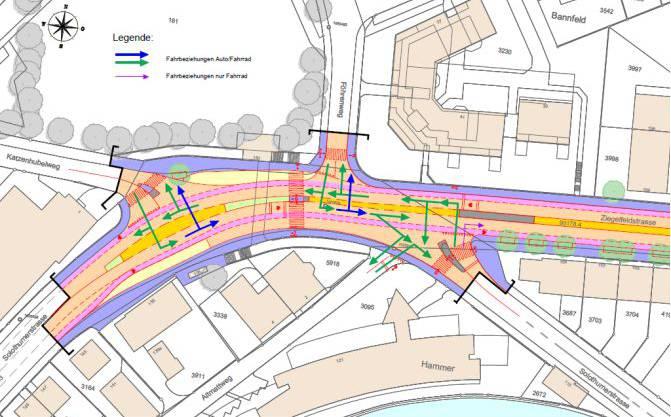 Ab Montag gilt im Knoten Hammermühle ein neues Verkehrsregime.