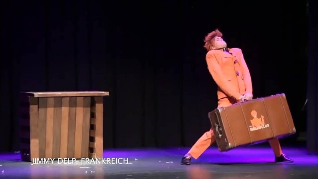 Der französische Zauberkünstler Jimmy Delp am Grenchner Zauberkongress 2019