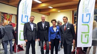 Die Protagonisten des Abends waren Andreas Gasche, Martin Schaerer, Esther Gassler und Thomas A. Müller (von links).