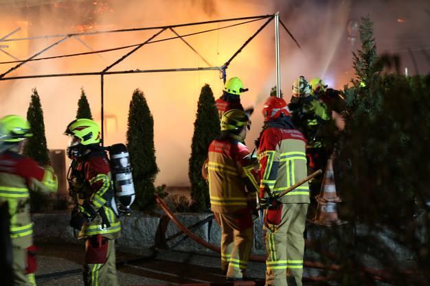 Die alarmierte Feuerwehr Rietenberg löschte den Brand.
