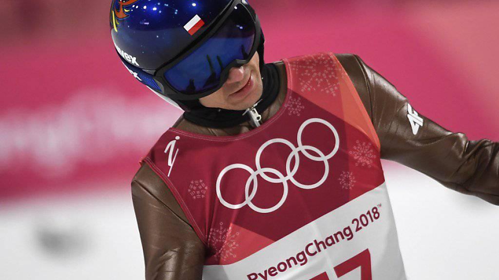 Topfavorit für das Springen von der Normalschanze am Samstag: Kamil Stoch