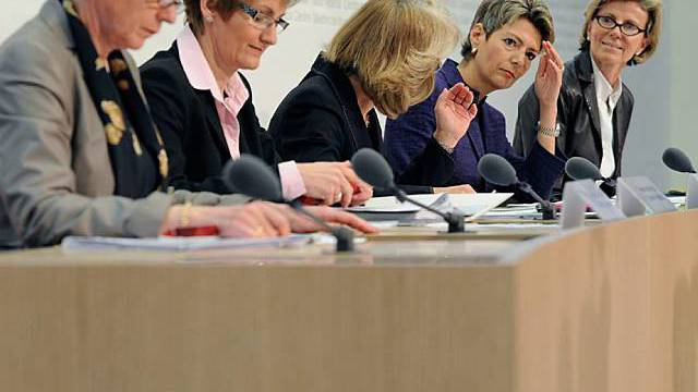 FDP-Frauen an der Medienkonferenz in Bern