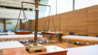 Der Gerichtssaal zum Mordfall Rupperswil bei der Mobilen Einsatzpolizei der Kantonspolizei Aargau im Kommando in Schafisheim. Aufgenommen am 7. März 2018.