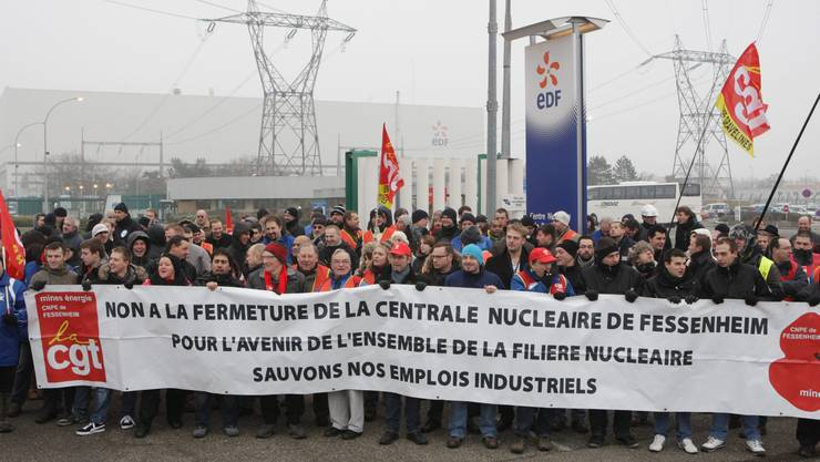 Die Pläne, das AKW Fessenheim zu schliessen, stossen bei der Gewerkschaft CGT auf Widerstand.