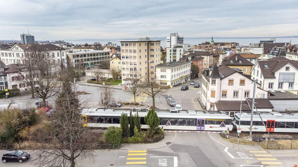 Zwischen Rorschach (Bild) und Goldach fahren an drei Wochenenden und in 82 Nächten keine Züge. (Archivbild)