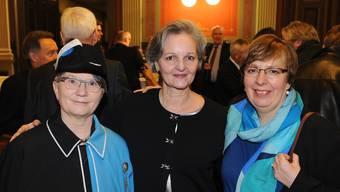 Weibelin Manuela Widmer, Renata Siegrist und Rahel Ommerli (v.l.).